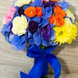 Buchet de mireasa multicolor ieftin