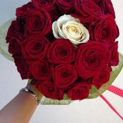 Buchet onomastica din 21 trandafiri