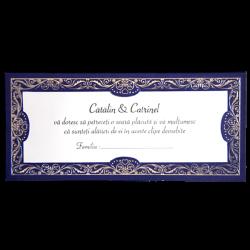 Plicuri de bani carton albastru cu insertii argintii 01.60.024