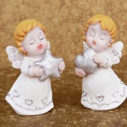 Marturii botez ieftine fete si baieti : ingerasi 13665W – 2 x 6,5 cm – 6,5 lei/buc (marturii set 2 buc – comanda multiplu de 2)