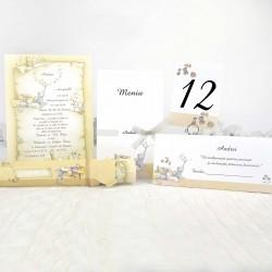 Set botez 15103: invitatii, place carduri, numere mese, meniuri