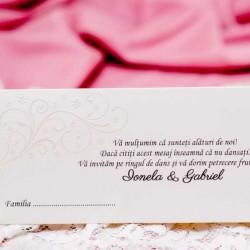 Plicuri de bani nunta carton ivoire 3610