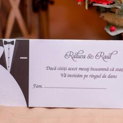 Place carduri nunta tematica mire&mireasa 3902