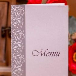 Meniu nunta alb si argintiu 3905_menu