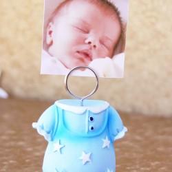 Marturii botez baiat DG351: suport foto bleu – 6,5 cm x 4 cm – 5 lei/buc