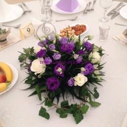 Aranjamente florale nunta si botez tematica mov AN019 – 80 lei