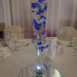 Aranjamente florale nunta si botez delphinium albastru scufundat in vaza AN022 – 30 lei
