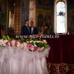 Cristelnita botez fetita cu crizanteme si lisantius roz CB005
