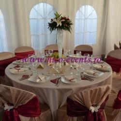Aranjamene florale nunta si botez pe vaza 50 cm cu crini si miniroze AN012 – 65 lei