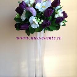 Arajamente florale nunta de primavara cu lalele, anemone si frezii Bucuresti AN007 – 120 lei