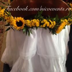 Cristelnita botez fata floarea soarelui CB008