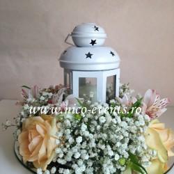 Aranjamente florale nunta cu felinar AN033 70 lei